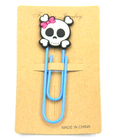 Silicone/Rubber Bookmarks cartoon skull  #02018-006