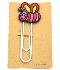 Silicone/Rubber Bookmarks cartoon bee #02018-009