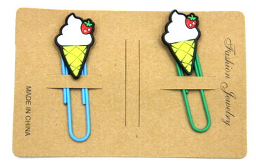 Silicone/Rubber Bookmarks cartoon ice cream #02018-011