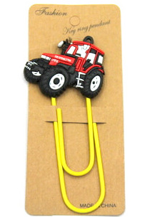 Silicone/Rubber Bookmarks cartoon tractor #02018-013