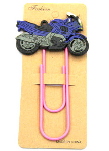 Silicone/Rubber Bookmarks cartoon motor bike / motorcycle #02018-015