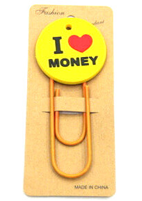 Silicone/Rubber Bookmarks i love money saying #02018-017