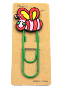 Silicone/Rubber Bookmarks cartoon cute bee #02018-018