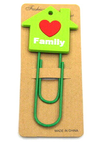 Silicone/Rubber Bookmarks cartoon family #02018-020