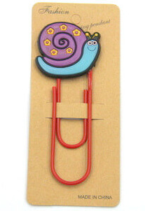 Silicone/Rubber Bookmarks cartoon snail #02018-021