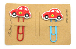 Silicone/Rubber Bookmarks cartoon cute cars  #02018-022