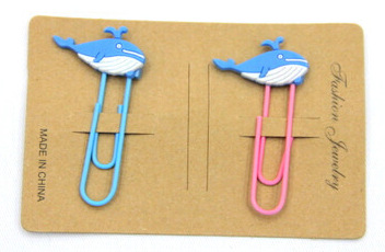 Silicone/Rubber Bookmarks cartoon whale #02018-023