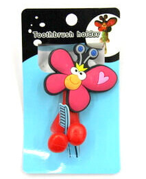 Silicone/Rubber toothbrush holder cute cartoon butterfly #02020-001