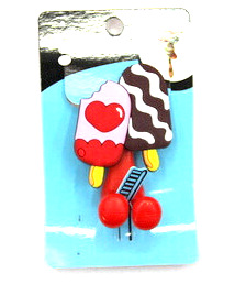 Silicone/Rubber toothbrush holder cartoon ice cream #02020-008