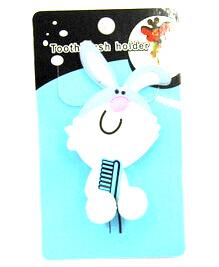 Silicone/Rubber toothbrush holder cartoon rabbit  #02020-015