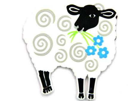 Silicone/Rubber fridge magnets Cute cartoon animals sheep #02021-001