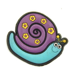 Silicone/Rubber fridge magnets Cute cartoon animals snail  #02021-007