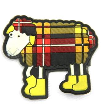 Silicone/Rubber fridge magnets Cute cartoon animals sheep #02021-013