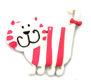 Silicone/Rubber fridge magnets Cute cartoon animals cat #02021-020
