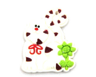 Silicone/Rubber fridge magnets Cute cartoon animals cat #02021-021