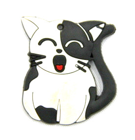 Silicone/Rubber fridge magnets Cute cartoon animals black and white cat #02021-022