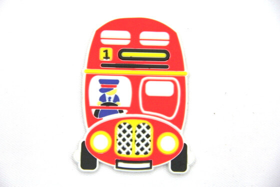 Silicone/Rubber fridge magnets fire engine #02022-001