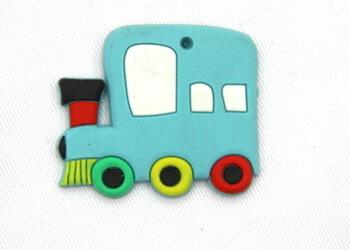 Silicone/Rubber fridge magnets loco #02022-004