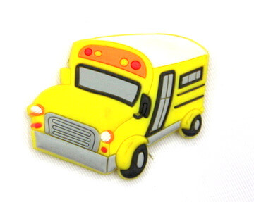 Silicone/Rubber fridge magnets cute cartoon school bus #02022-008