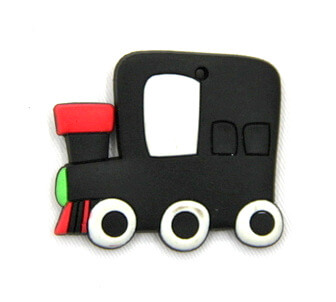 Silicone/Rubber fridge magnets cute cartoon train #02022-011