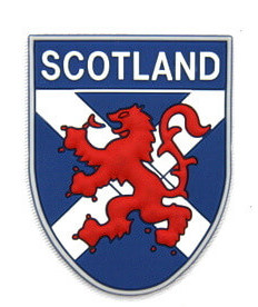 Silicone/Rubber Fridge Magnet tourist souvenirs, Scotland, # 02023-001