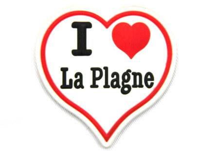 Silicone/Rubber Fridge Magnet tourist souvenirs, Plagne, # 02023-003