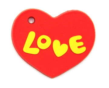 Silicone/Rubber fridge magnets cute cartoon, love heart, #02023-006