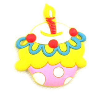 Silicone/Rubber fridge magnets cute cartoon, birthday cake, #02023-008