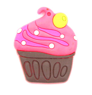Silicone/Rubber fridge magnets cute cartoon, cup cake, #02023-009