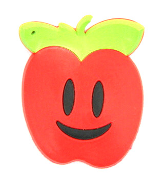 Silicone/Rubber fridge magnets cute cartoon, red apple, #02023-016