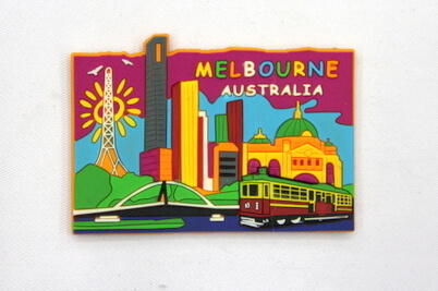 Silicone/Rubber Fridge Magnet tourist souvenirs, melbourne, , # 02024-001