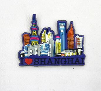 Silicone/Rubber Fridge Magnet tourist souvenirs, Shanghai, , # 02024-002