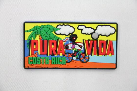 Silicone/Rubber Fridge Magnet tourist souvenirs, Costa rica, , # 02024-007