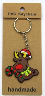 silicone Christmas key chain deer #02026-009