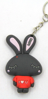 Silicone key chain (ring) Cartoon Theme #02026-030