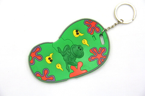 Silicone / Rubber Soft Key Chain in Shapes of Slippers #02027-014