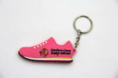 Silicone / Rubber Soft Key Chain in Shapes of Shoes #02027-018