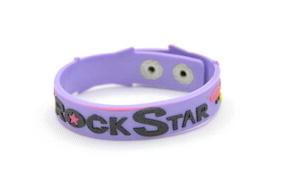 Silicone/Rubber (Soft Plastic) Bracelet Rock Star #02029-002