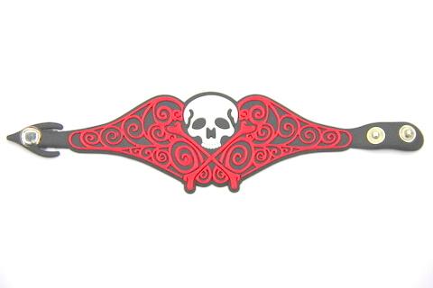 Silicone/Rubber (Soft Plastic) Bracelet Skull #02029-007