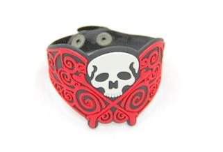 Silicone/Rubber (Soft Plastic) Bracelet Skull #02029-006
