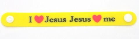 Silicone/Rubber Wristband bracelet I LOVE JESUS #  02029-008-2