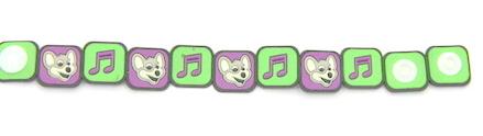 Silicone/Rubber (Soft Plastic) Bracelet Music #02029-011-2