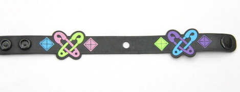 Silicone/Rubber (Soft Plastic) Bracelet Pin Butterfly #02029-014-2