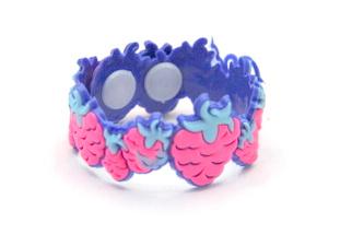 Silicone/Rubber (Soft Plastic) Bracelet Strawberry #02029-015