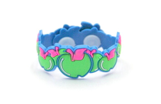 Silicone/Rubber (Soft Plastic) Bracelet Fruit Apple #02029-18