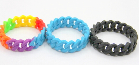 Silicone/Rubber (Soft Plastic) Wristband bracelet Infinite Braid # 02030-004