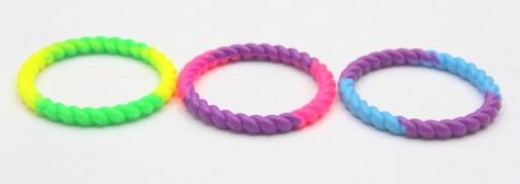 Silicone/Rubber (Soft Plastic) Wristband bracelet Infinite Braid # 02030-005