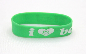 Silicone/Rubber (Soft Plastic) Wristband bracelet # 02030-006