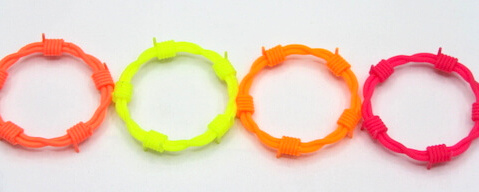 Silicone/Rubber (Soft Plastic) Braided String Bracelet  # 02030-016