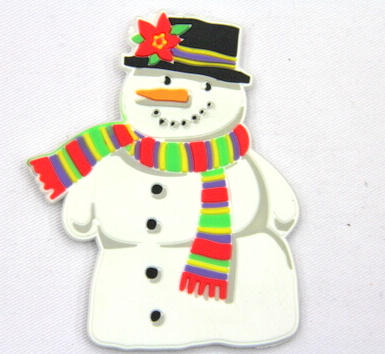 Silicone/Rubber fridge magnets, Cute cartoon, snowman, #02032-001